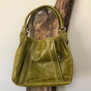 Olive Vegan Leather Tote
